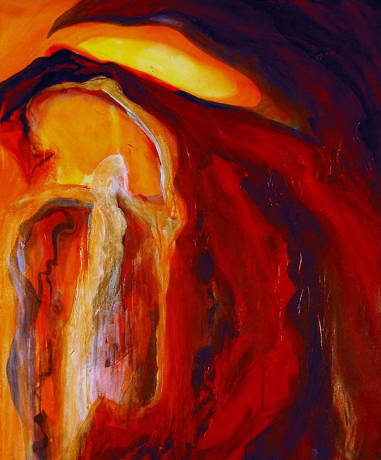 Entangled Emotion, Michelle Lindblom, acrylic on canvas