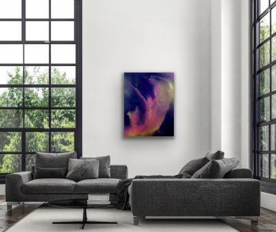 essence revealed, acrylic, canvas, original, michelle lindblom, bend oregon, spiritual