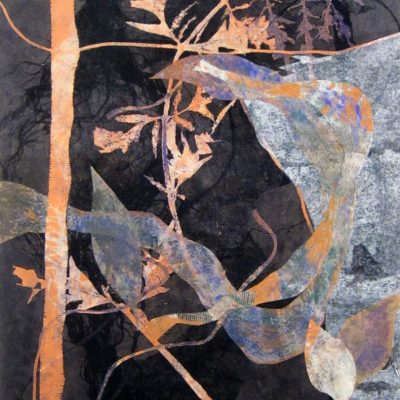 printmaking, abstract, nature, dreams, spiritual, collage, michelle lindblom, contemporary, fabric