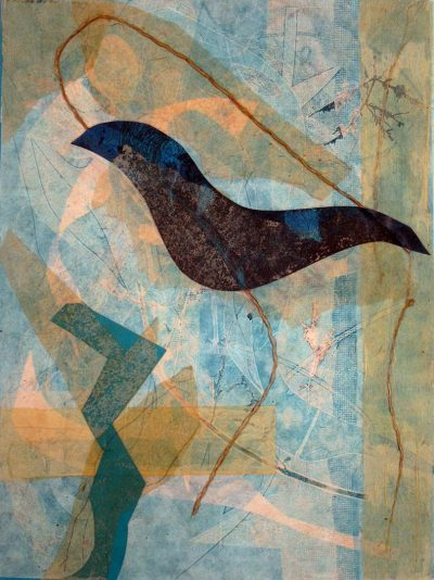 collaged nuances, bend oregon, nature earth, monotype, abstract, collage, mixed media, nature, michelle lindblom, contemporary, birds, printmaking