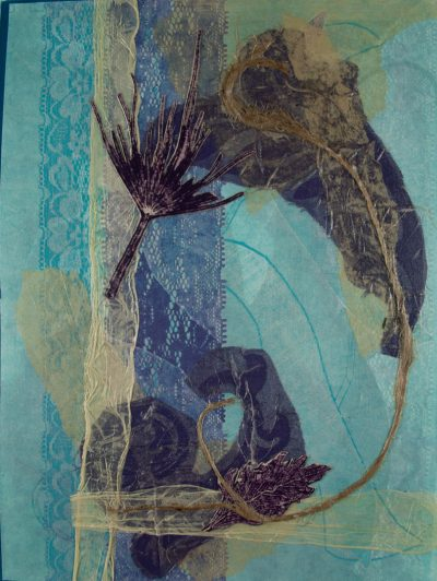 monotype nuances blue violet, bend oregon, nature earth, monotype, abstract, collage, mixed media, nature, michelle lindblom, contemporary, printmaking