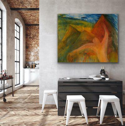 acrylic, canvas, original, michelle lindblom, bend oregon, spiritual