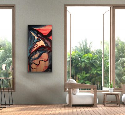 unraveling, acrylic, canvas, original, michelle lindblom, bend oregon, spiritual