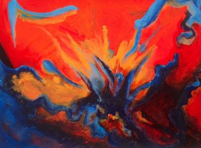 Explosion of Dialogue, Michelle Lindblom, acrylic on canvas