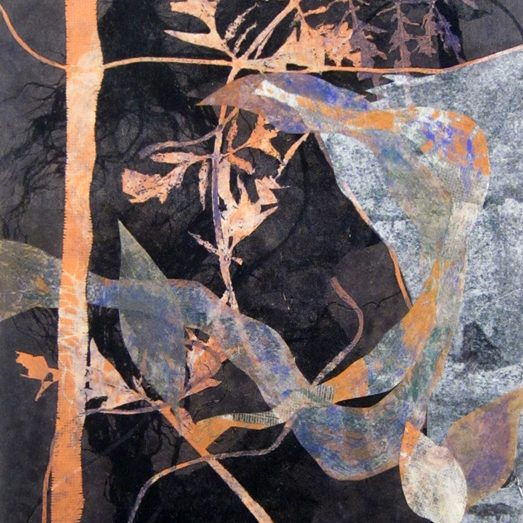 Discounted original collaged monotype on paper