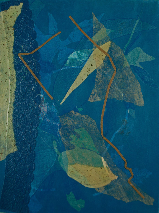 monotype nuances blue, bend oregon, nature earth, monotype, abstract, collage, mixed media, nature, michelle lindblom, contemporary, figurative, landscape