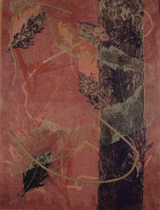 monotype nuances red violet, bend oregon, nature earth, monotype, abstract, collage, mixed media, nature, michelle lindblom, contemporary, figurative, landscape