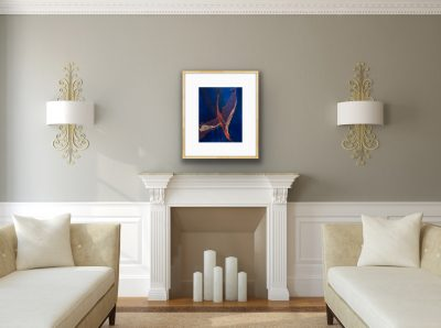 whimsical flight, monotype, printmaking, original, nature, michelle lindblom, bend oregon, spiritual