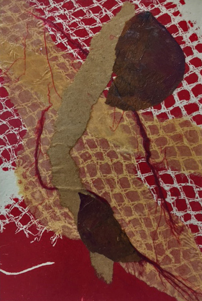 abstract, nature, collage, michelle lindblom, contemporary, fabric, landscape