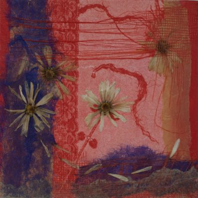 nature collage, monotype, Michelle Lindblom, visual artist, collage, mixed media, printmaking, contemporary, nature