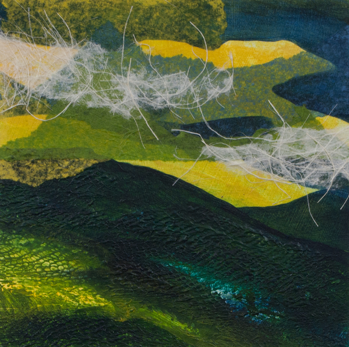 monotype, abstract, collage, mixed media, nature, michelle lindblom, contemporary, landscape