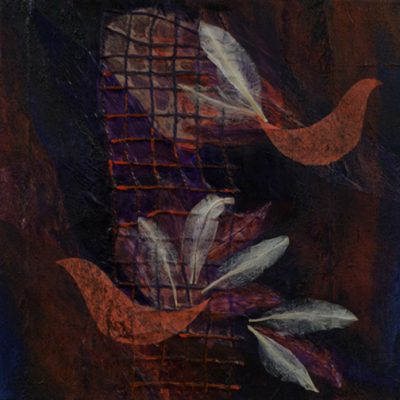 cavernous landscape, monotype, Michelle Lindblom, visual artist, collage, mixed media, printmaking, contemporary, nature