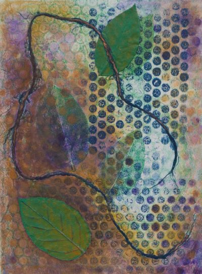 nature monotype, monotype of nature, abstract monotype, mixed media monotype, mixed media, monotype, printmaking, abstract, nature, michelle lindblom, contemporary, contemporary monotype