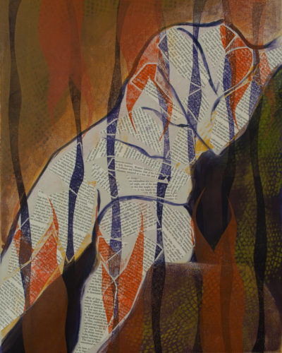 monotype, printmaking, abstract, nature, dreams, figurative, michelle lindblom, contemporary
