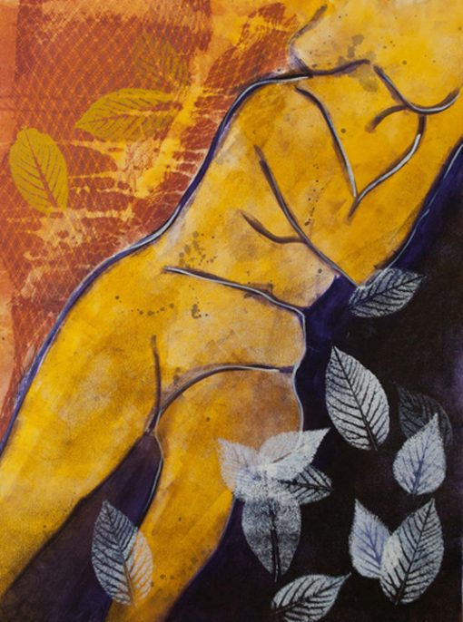 figurative monotype, figurative mixed media, mixed media monotype, mixed media painting, painting, mixed media, monotype, printmaking, abstract, nature, dreams, figurative, michelle lindblom, contemporary, contemporary monotype