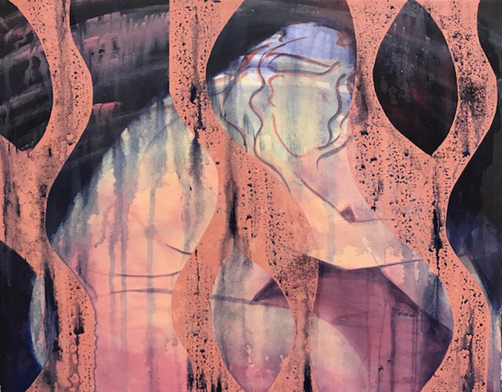 painting, mixed media, monotype, printmaking, abstract, nature, dreams, figurative, michelle lindblom, contemporary