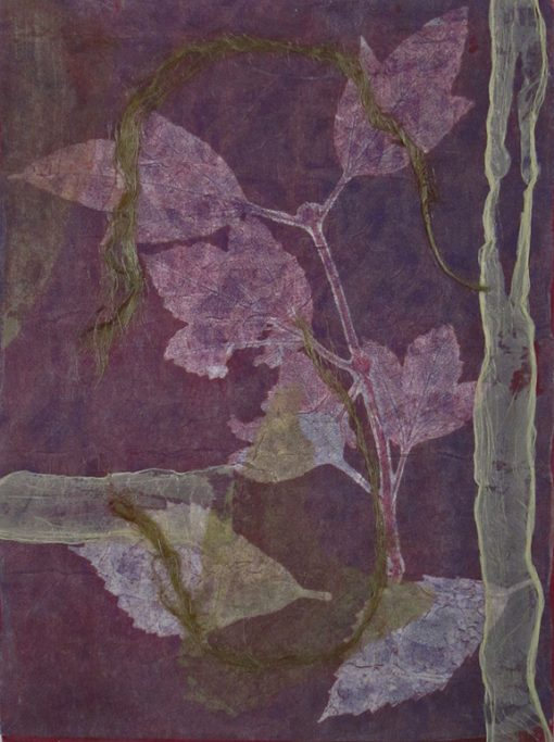 mixed media violet, abstract nature, collage, mixed media, Michelle Lindblom, contemporary, nature