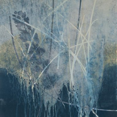 awakenings growth, abstract nature, collage, mixed media, Michelle Lindblom, contemporary, nature