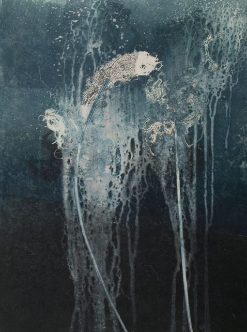 fragments, reawakened, printmaking, abstract nature, mixed media, Michelle Lindblom, contemporary, nature