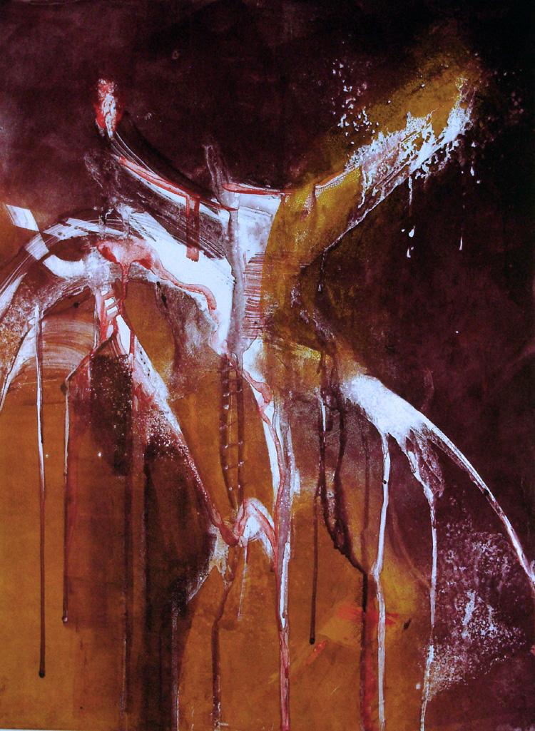 organic flight, monotype, printmaking, original, nature, michelle lindblom, bend oregon, spiritual