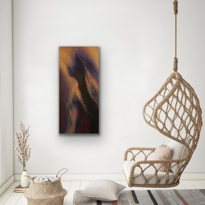 disruption, acrylic, canvas, original, michelle lindblom, bend oregon, spiritual