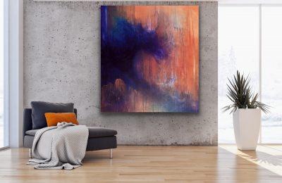 emerging from turbulence, acrylic, canvas, original, michelle lindblom, bend oregon, spiritual