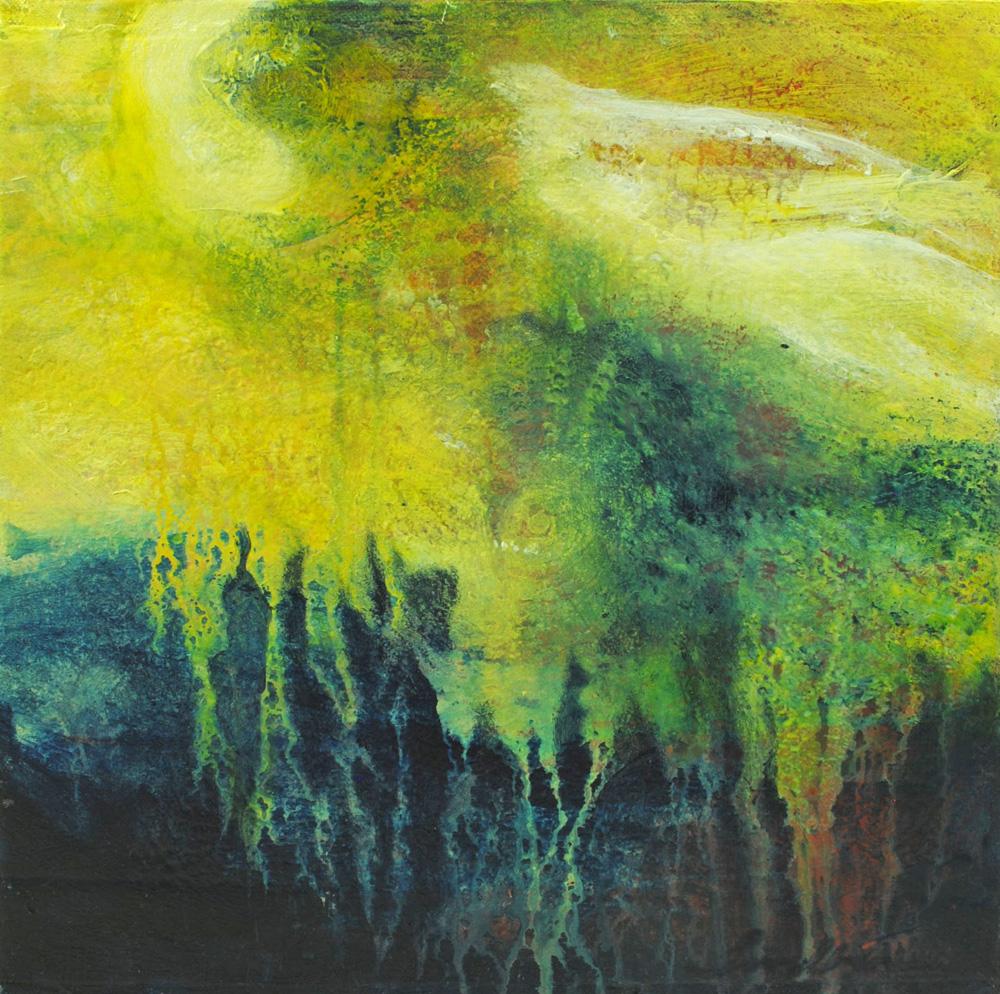 sky spirits, landscape, acrylic, painting, canvas, mixed media, michelle lindblom, bend oregon, spiritual