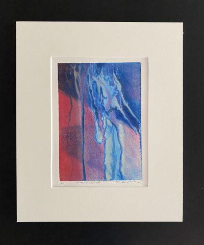 shadow figures, original, mixed media, monotype, michelle lindblom, bend oregon, printmaking