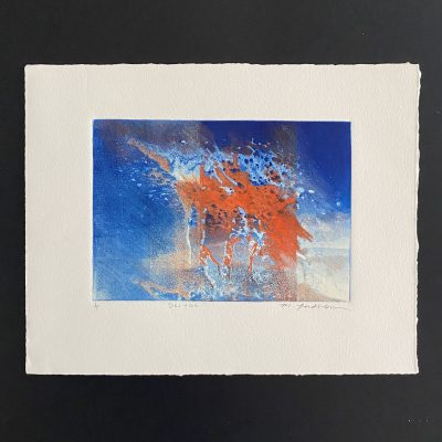 deluge, original, monotype, michelle lindblom, bend oregon, printmaking