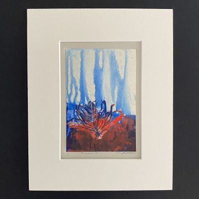 reflections, original, mixed media, monotype, michelle lindblom, bend oregon, printmaking