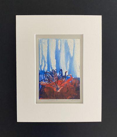 reflections, original, mixed media, monotype, michelle lindblom, bend oregon, printmaking