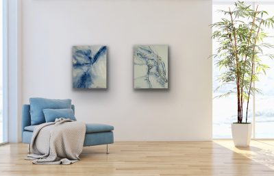 passages, acrylic, canvas, original, michelle lindblom, bend oregon, spiritual