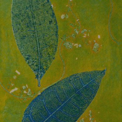 natural harmony monotype, printmaking, original, nature, michelle lindblom, bend oregon, spiritual