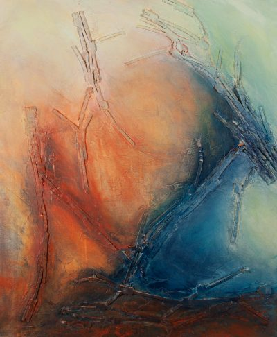 Mixed media painting, letting go, release, acrylic, canvas, original, michelle lindblom, bend oregon, spiritual